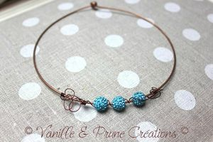 collier rigide cuivré perle shamballa turquoise3