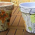 31-pots de fleurs (feuilles et raisins) 2007