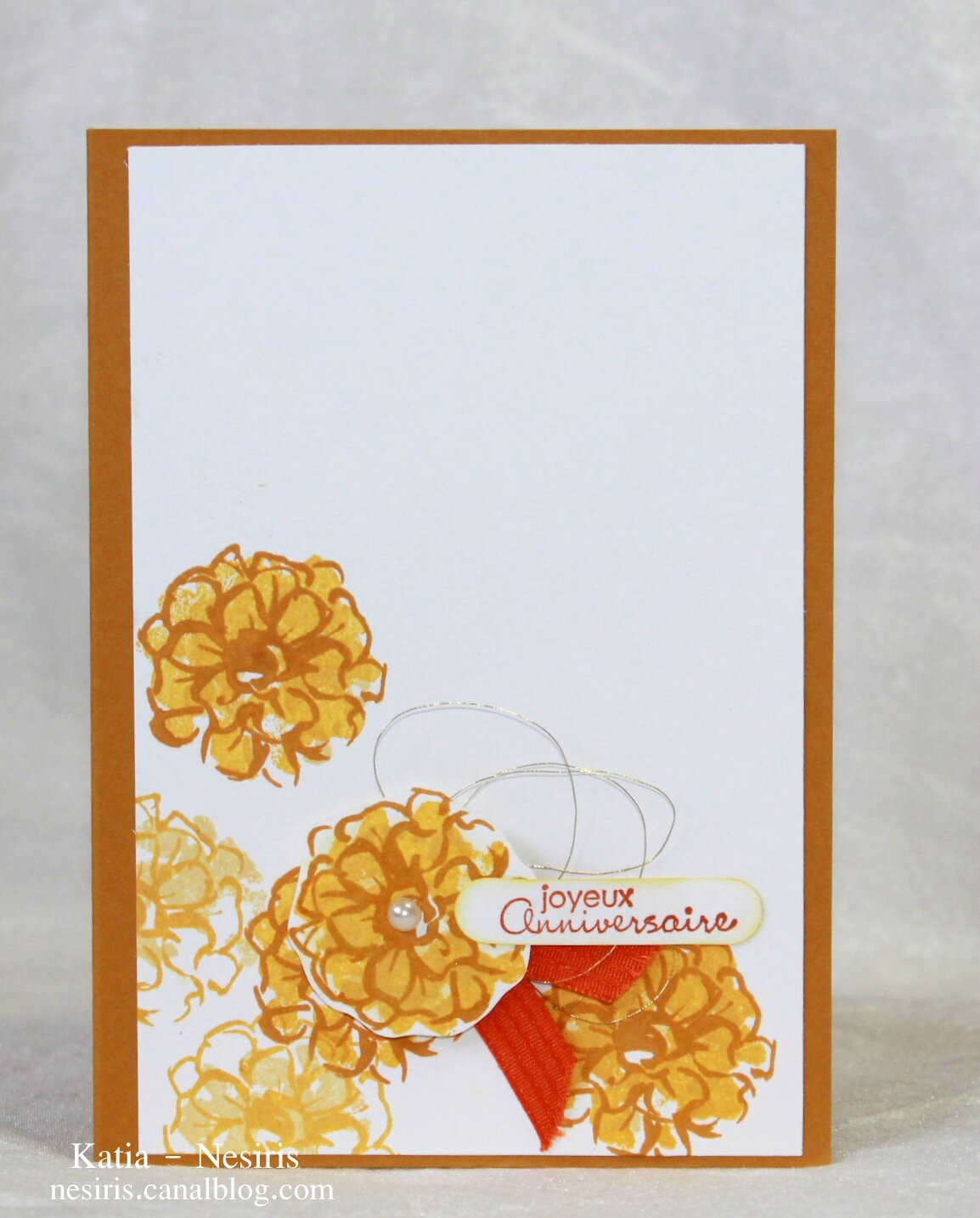 Carte Wink of stella - pinceau paillettes - katia nesiris démonstratrice Stampin'up2
