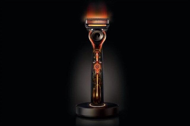 gillette heated razor rasoir chauffant 2