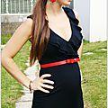 La petite robe noire et les nouvelles boucles d'oreilles aux gouttes émaillées ☆ les capucines☆