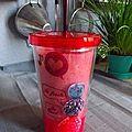 Smoothie fraise et framboise