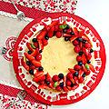 Tarte fruits rouges crème pâtissière basilic