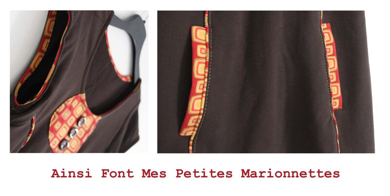 robe sweat marron rouge moutarde (3)
