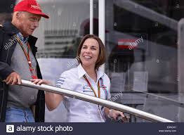 NIKI LAUDA AND CLAIRE WILLIAMS