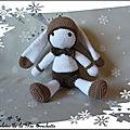 Doudou lapin crochet