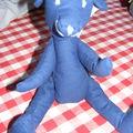 ours en tissus bleu