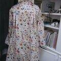 Ciré AGLAE en coton enduit Liberty Floral Eve fleuri fermé par un noeud dans le même tissu (2)