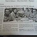 Plus de 13000€ reversé en faveur de la lutte contre le cancer !!!