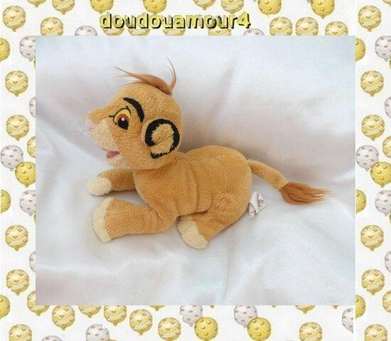 Doudou Peluche Simba Le Roi Lion TOTAL Nicotoy Disney 18 cm