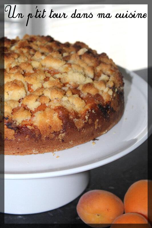 Gâteau abricots crumble