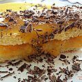 Bavarois express pêches-passion-chocolat café (sans gluten)