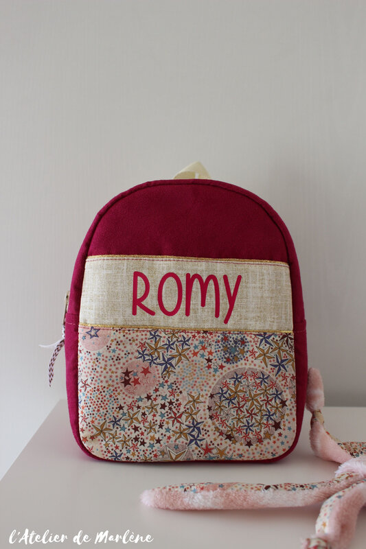 sac a do liberty et doré et rose ROMY