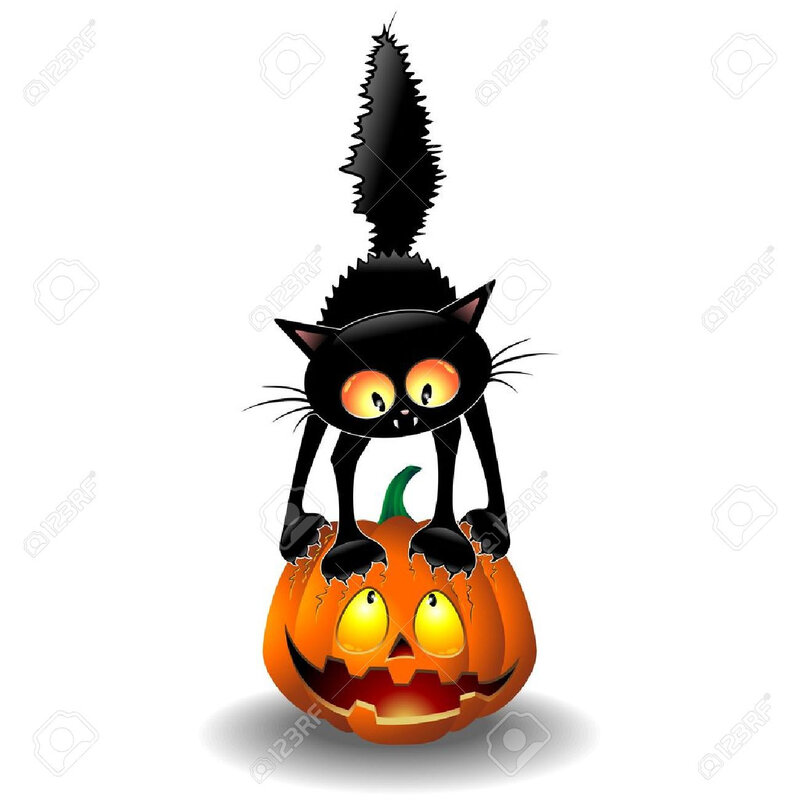 21299348-scared-halloween-cartoon-cat-gratter-une-citrouille