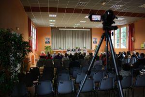 Gérard Dieudionné socialiste DVG Delphine Mesnildrey Geneviève Couraud Granville législatives 2012 caméscope meeting