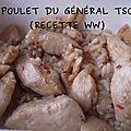 Poulet du général tso (recette de poulet chinoise & riz basmati de weight watchers)