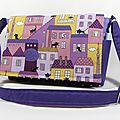 Sac besace, pocket bag violet