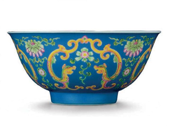 A falangcai 'kui dragons' bowl