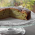 Gâteau d'automne aux pommes et à l'huile d'olive, sans gluten et sans lactose