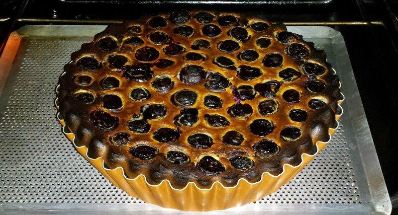 Clafoutis cerises noires noisettes vanille @Janemexique