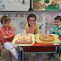 Série n°1 des anniversaires en maternelle: septembre