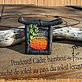pendentif cadre bambou couché de soleil au pays du soleil levant