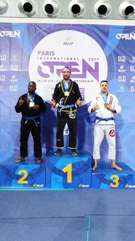 Podium IBJJF paris 2017 Simon