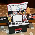 Card in a box piano - face