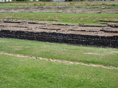 caerleon site romain emplacement des baraquements