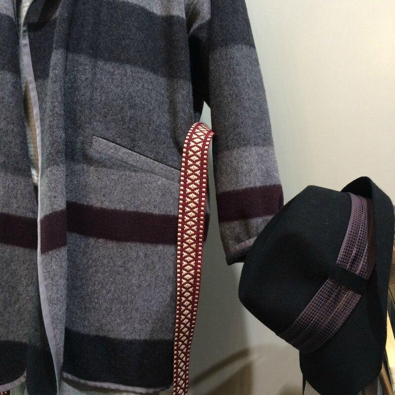 Manteau Maelo ceinture Aimée Chloé STORA chapeau GI'N'GI collection automne hiver 2015 2016 Boutique Avant-Après 29 rue FOCH 34000 Montpellier