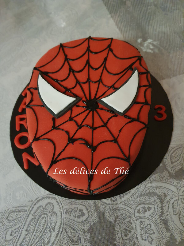 Spiderman pour les 3 ans de Aaron 16 11 19 (2)