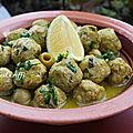 Kefta - boulettes de poulet olives et sauce au safran
