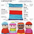 Faire un bonhomme tout-en-un au tricot, tellement facile à faire !!!