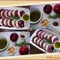 Carpaccio de bettraves-rouges et nectarines...