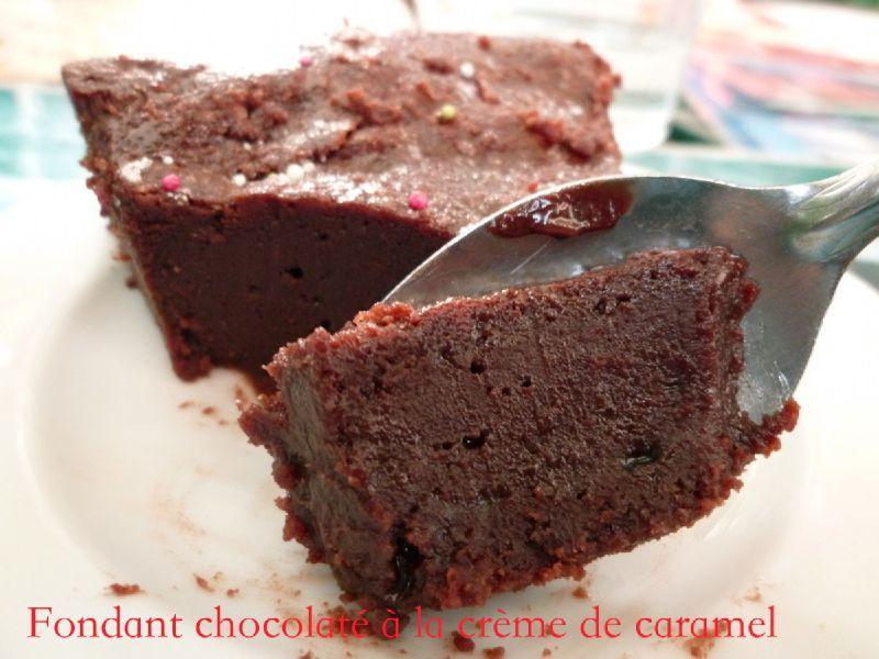 fondant chocolat creme caramel