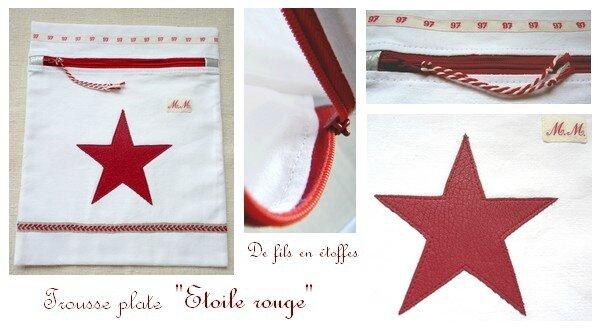 Trousse plate étoile rouge