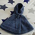 Poncho à capuche laine taille 6 mois