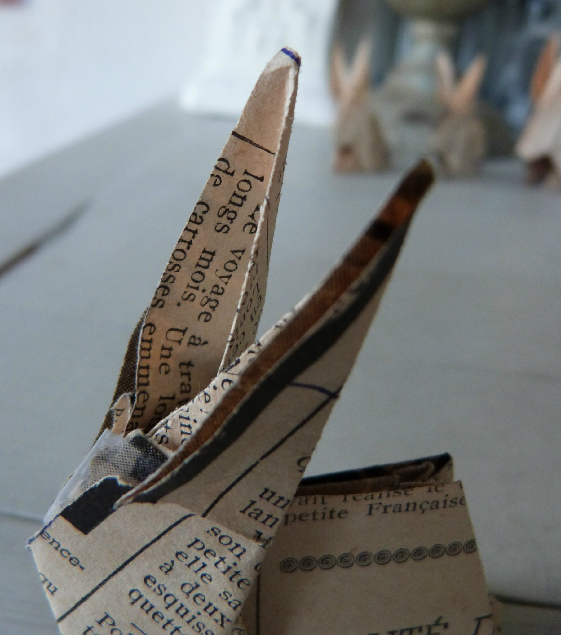 Lapin origami papier ancien (31)
