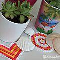 Activités kids pour les vacances : perles hama pour une petite déco garden colorée ☼