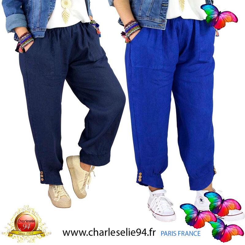 Pantalon lin grande taille été FEMINA CHARLESELIE94®0021_01
