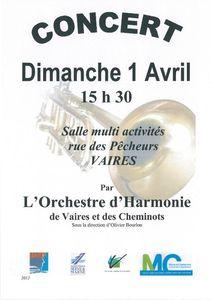 Affiche concert vaires 2012