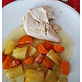 Pintade aux carottes et pommes de terre