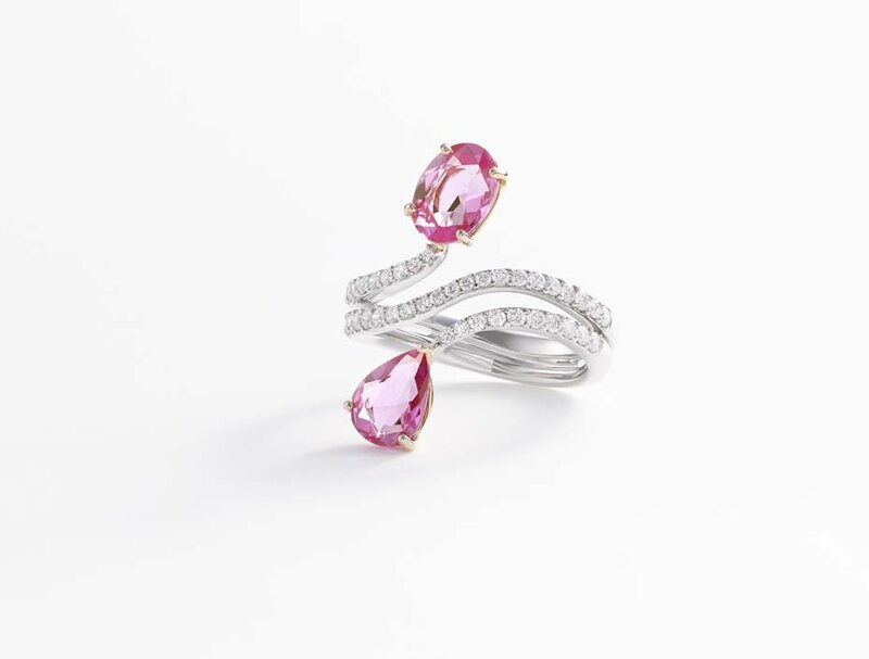 william and son_pink sapphires cross ring