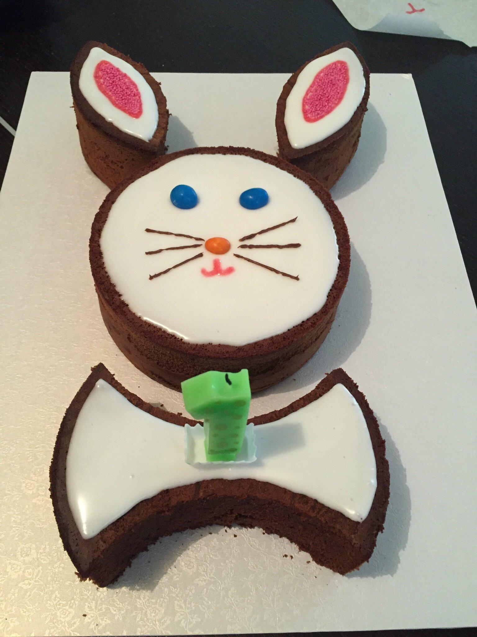 Gateau chocolat lapin