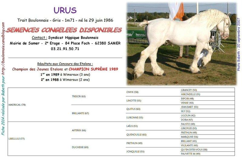 Fiche URUS IAC 2014