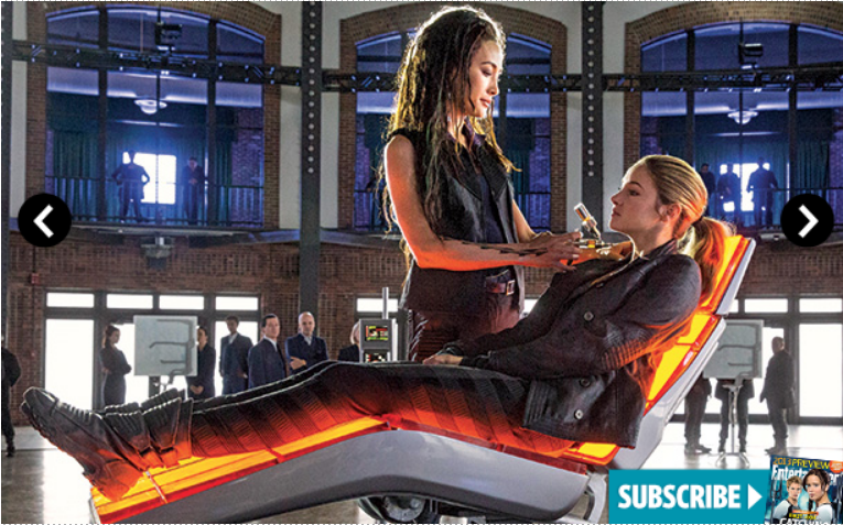 Tris and Tori Divergent movie