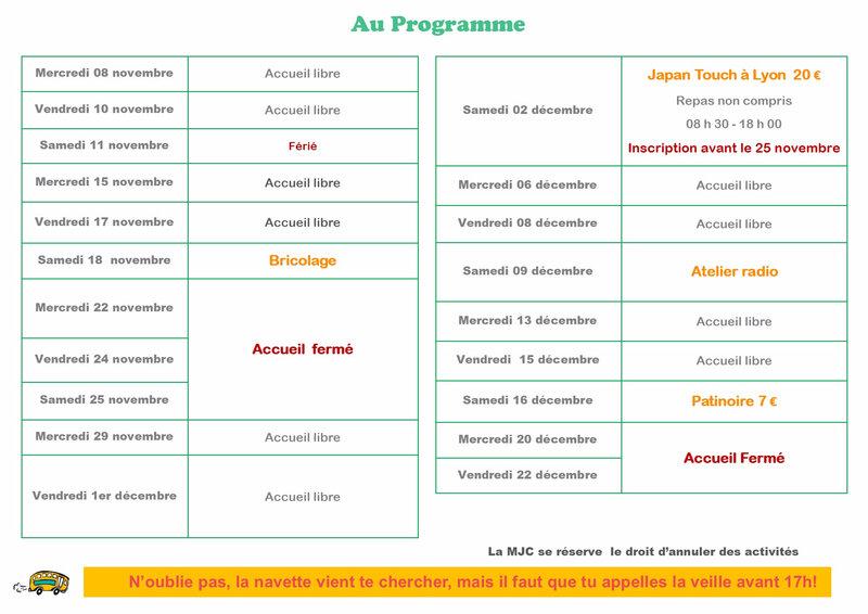 Programme nov-dec 2017 MJC du Sombernonnais