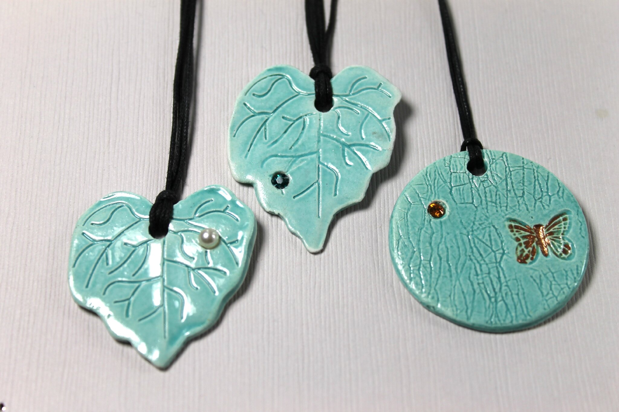 Feuilles turquois,