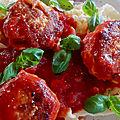 Boulettes de volaille à la tomate
