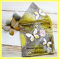 Mail art (papillons jaunes)